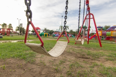Swing set at park